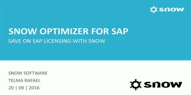 Save millions on SAP licensing with Snow