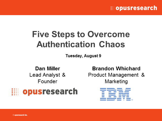 Five Steps to Overcome Customer Authentication Chaos