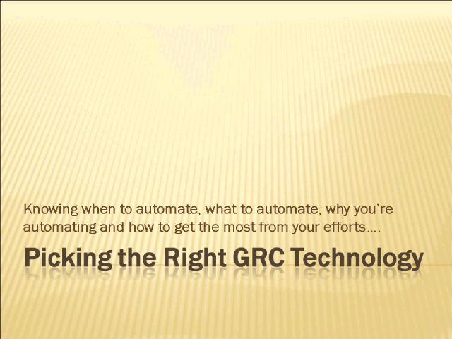 Automating Risk Management: When, Why, and How