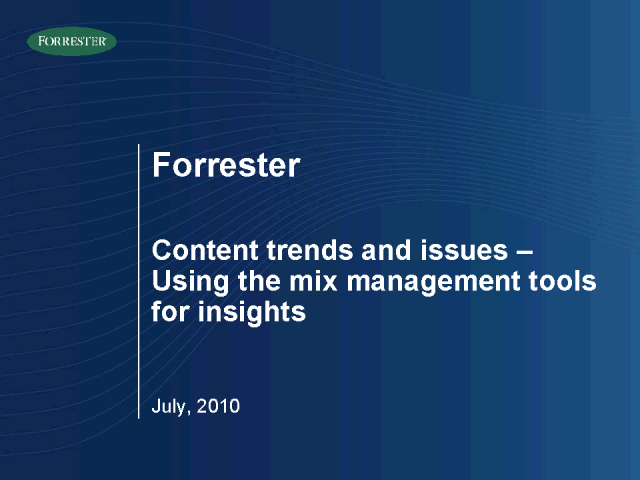 Content: The future lever for successful integrated marketing