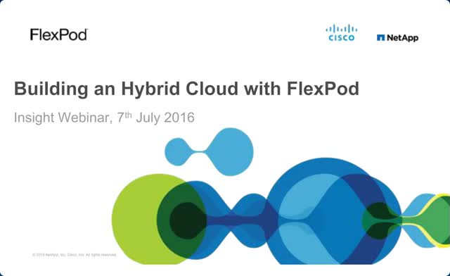 Building a Hybrid Cloud with FlexPod