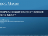 European Equities Post Brexit: Where next?