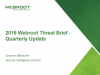 2016 Webroot Threat Brief - Quarterly Update