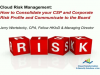 Consolidating your Cloud Service Provider & Corporate Risk Profile