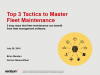 Top 3 Tactics to Master Fleet Maintenance