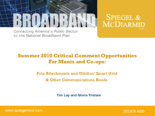 Summer 2010 Critical Comment Opportunities For Munis and Co-ops