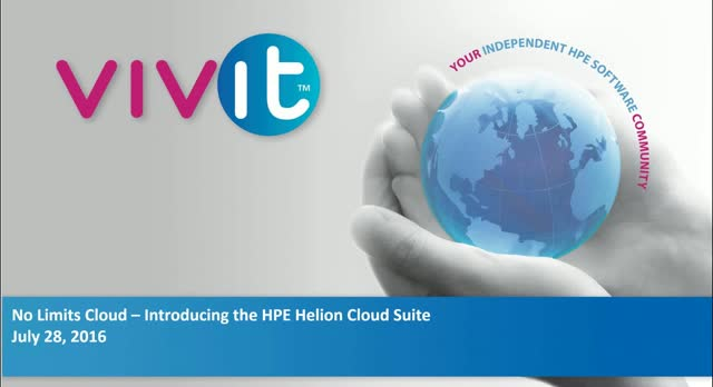 No Limits Cloud – Introducing the HPE Helion Cloud Suite