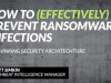 How to (effectively) prevent ransomware infections