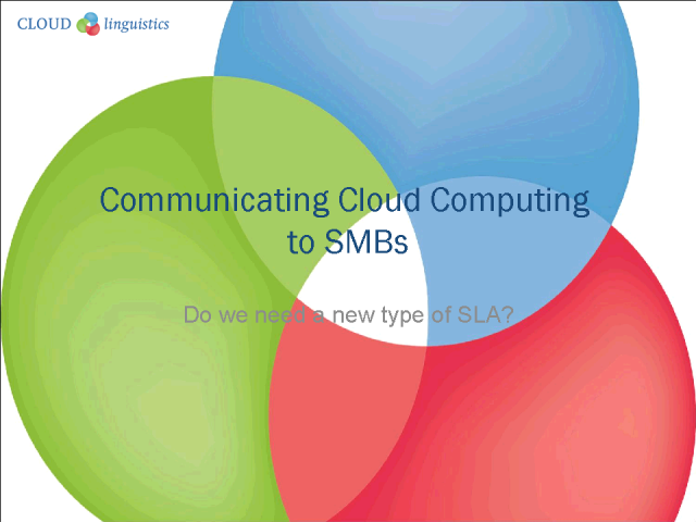 Communicating Cloud Services to SMBs Using ITIL Best Practices