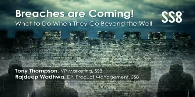 Breaches are Coming! What To Do When They Go Beyond the Wall