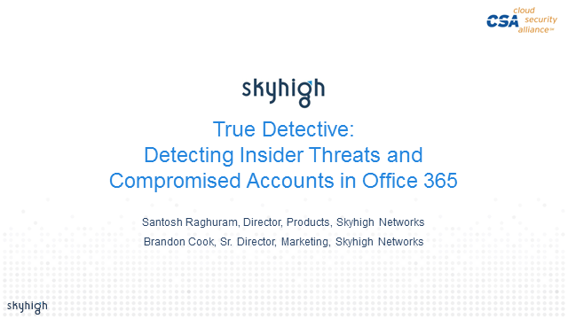 True Detective: Detecting Insider Threats and Compromised Accounts in Office 365