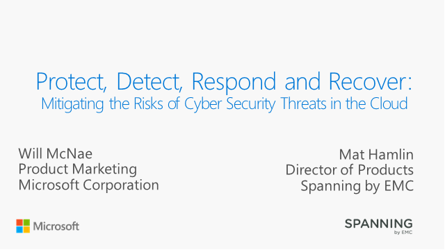 Protect, Detect, Respond and Recover: Mitigating the Risks of Cyber Security