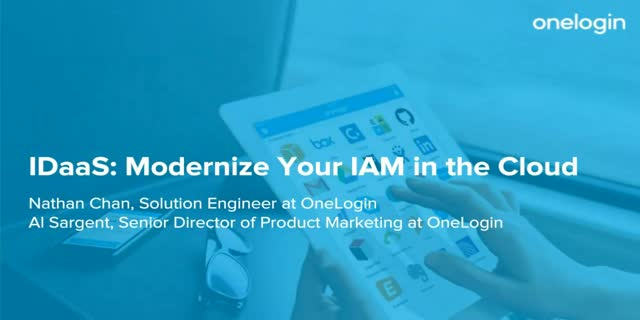 IDaaS: Modernize Your IAM in the Cloud