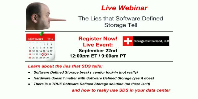 The Lies that Software Defined Storage Tell
