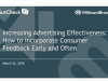 Increasing Advertising Effectiveness: How to Incorporate Consumer Feedback Early