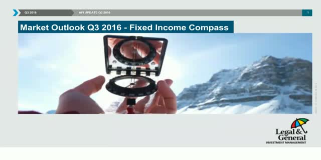 Fixed Income Compass - Quarterly update - Q3 2016