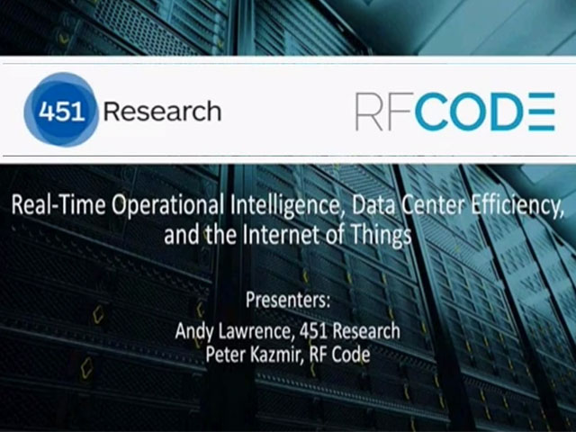 Real-Time Operational Intelligence, Data Center Efficiency, and the IoT