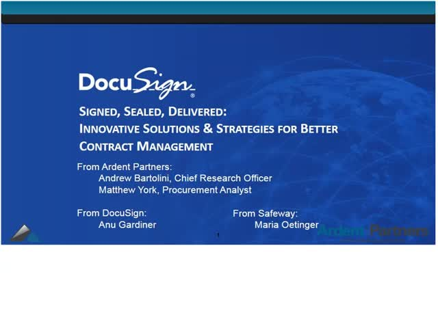 SIGNED, SEALED, DELIVERED: Solutions & Strategies for Better Contract Management