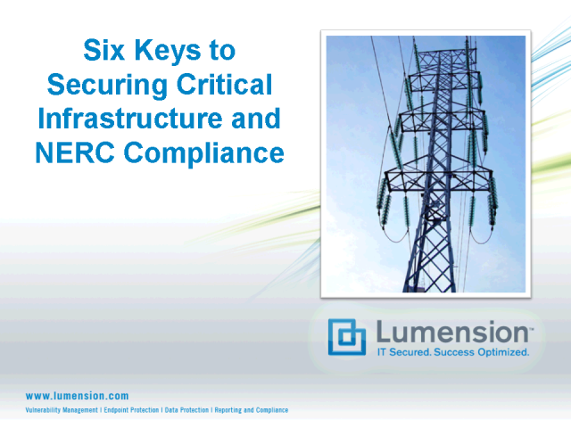 6 Keys to Securing Critical Infrastructure and NERC Compliance