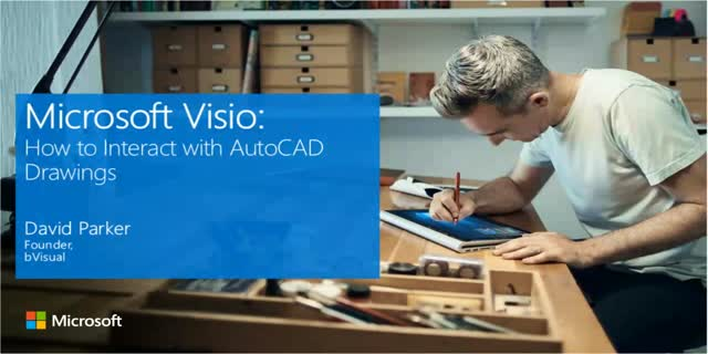 Microsoft Visio Video Guide: How to Interact with AutoCAD Drawings