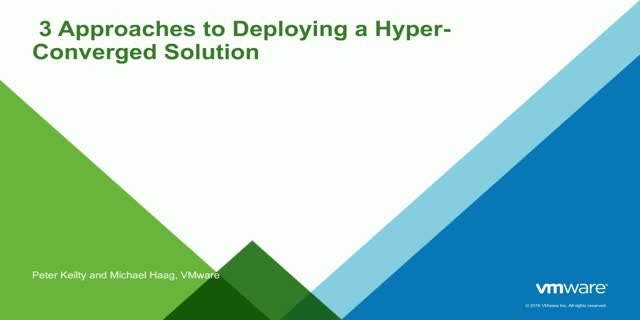 3 Approaches to Deploying a Hyper-Converged Solution- Part 1