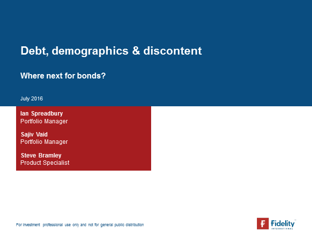 Debt, demographics and discontent – where next for bonds?