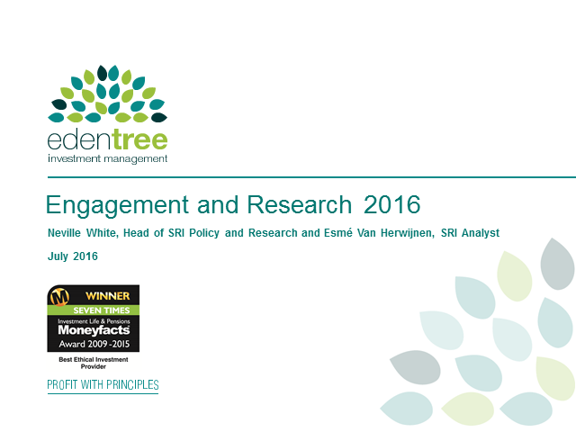 SRI Engagement and Research