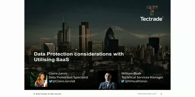 Data Protection considerations with Utilizing SaaS