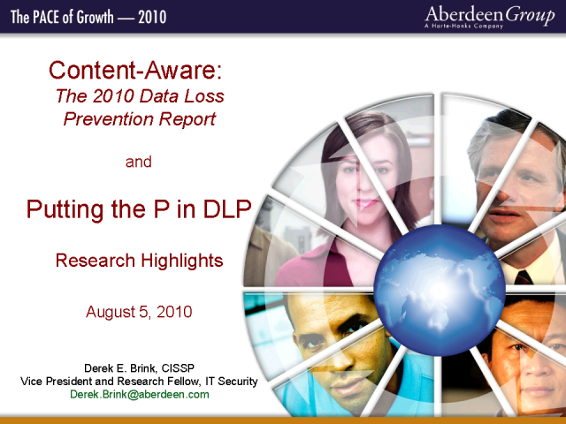 Content-Aware: Aberdeen's 2010 Data Loss Prevention Report