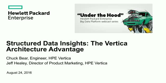 Structured Data Insights: The Vertica Architecture Advantage