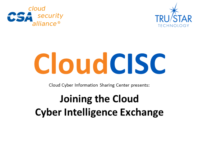 Joining the Cloud Cyber Intelligence Exchange