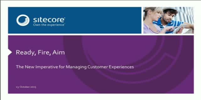 Gartner Ready-Aim-Fire: The New Imperative for Managing Customer Experience