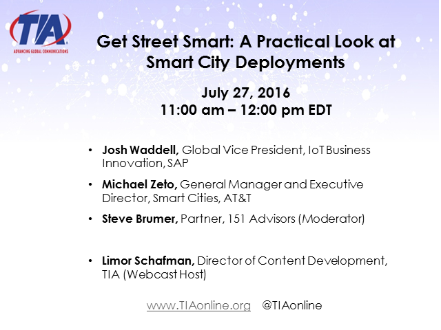 Get Street Smart: A Practical Look at Smart City Deployments