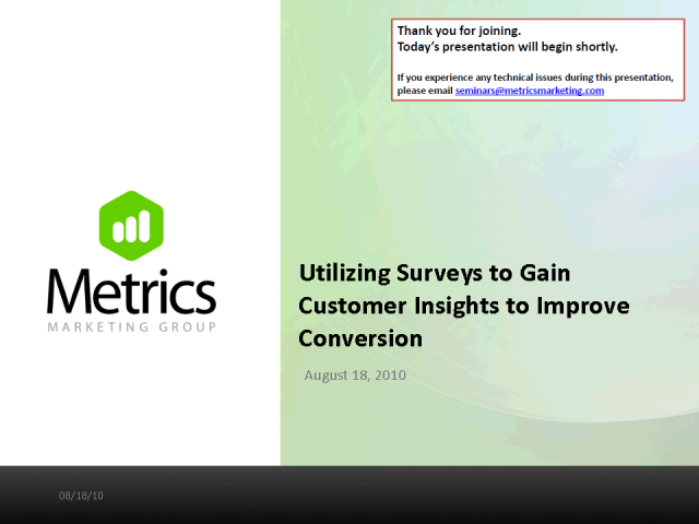Utilizing Surveys to Gain Customer Insights to Improve Conversion