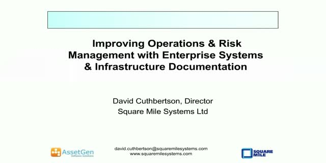Improving Operations & Risk Management with Enterprise Systems & Infrastructure