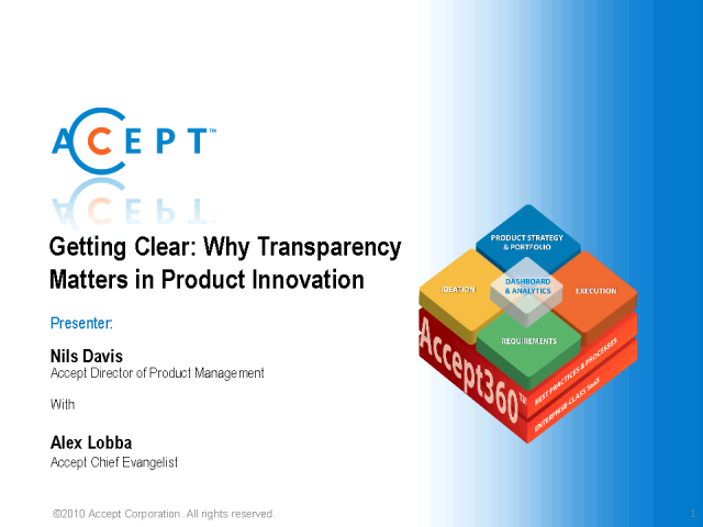Transparency: Why Transparency Matters