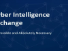 Cyber Intelligence Exchange: It's Possible and Absolutely Necessary