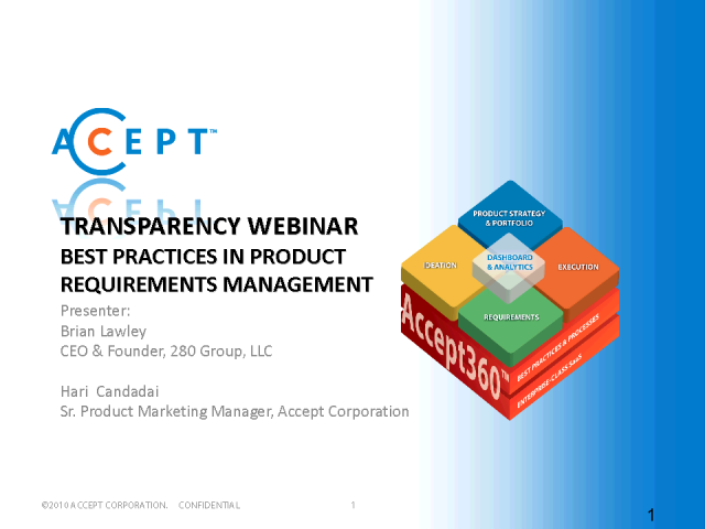 Transparency: Best Practices in Product Requirements Management