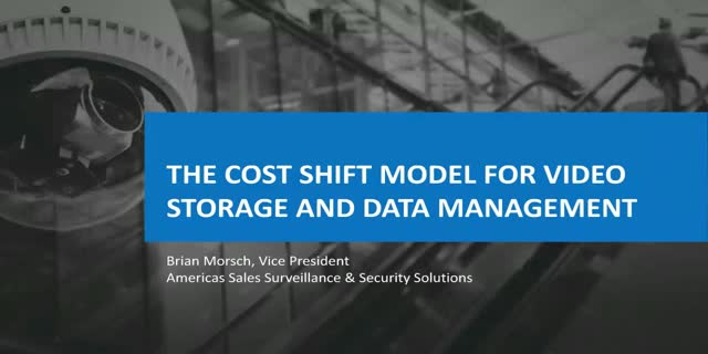The Cost Shift Model for Video Storage and Data Management
