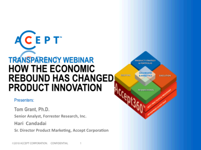 How the Economic Rebound Has Changed Product Innovation