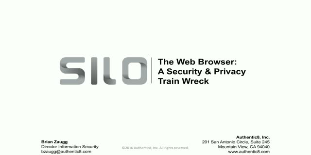 The Web Browser: A Security & Privacy Train Wreck