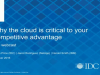 Why the Cloud is Critical to Your Competitive Advantage