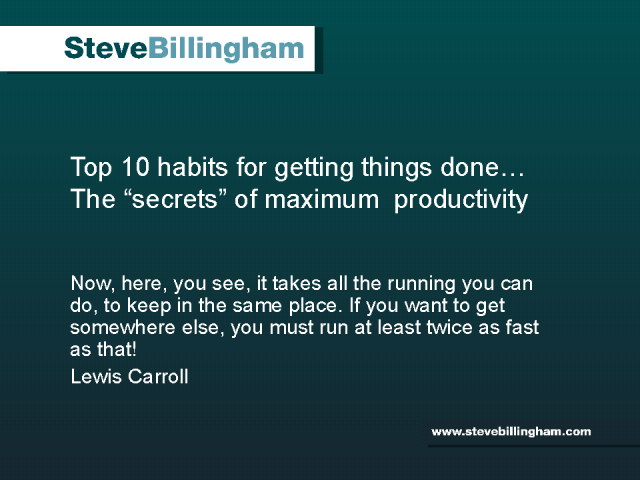 Top 10 Habits for Getting Things Done
