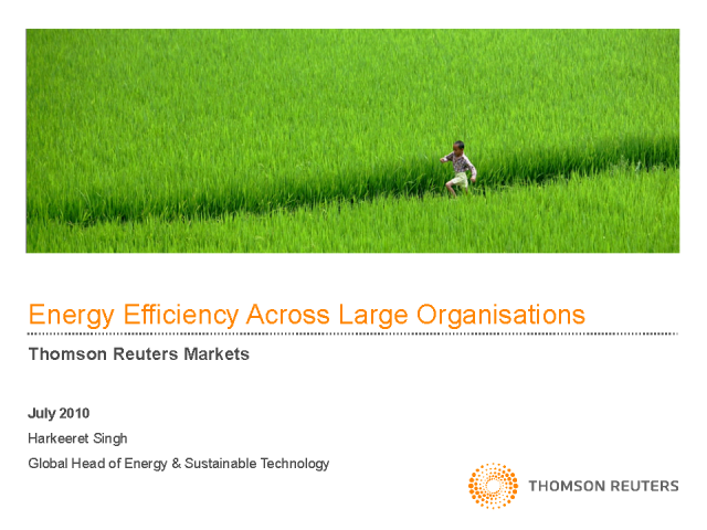 Energy Efficiency Across Large Organizations