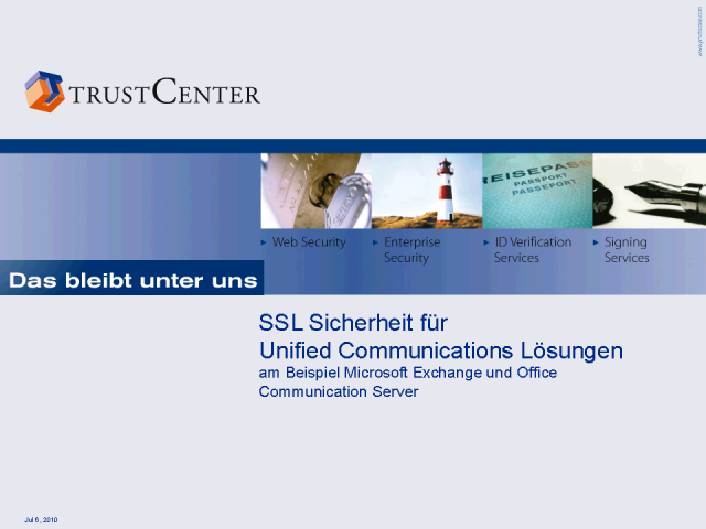 SSL Sicherheit für Unified Communications Lösungen