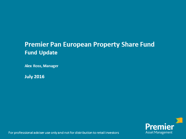 Premier Pan European Property Share Fund - fund update with Alex Ross
