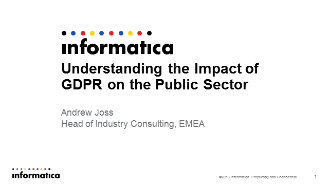 Understanding the Impact of GDPR on the Public Sector