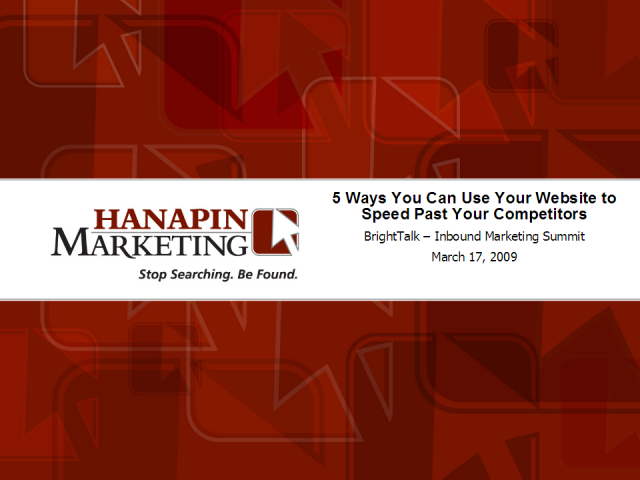 5 Ways You Can Use Your Website to Speed Past Your Competitors