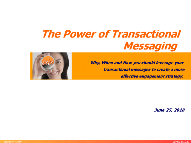 Power of Transactional Messaging
