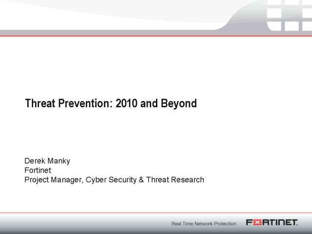 Threat Prevention for 2010 and Beyond